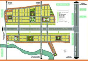 Mặt bằng tổng quan dự án dự án Phúc Hưng Golden gồm hơn 2300 nền nhà phố có diện tích từ 56m2 đến 90m2