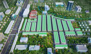 Phối cảnh ban ngày của dự án Khu đô thị Phương Trường An 5 Ấp Bố Lá Huyện Phú Giáo tỉnh Bình Dương