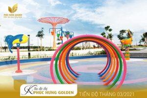 Phối cảnh cập nhật tiến độ thi công Khu đô thị Phúc Hưng Golden